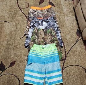 QTY of 4 : 10/12 swim shorts